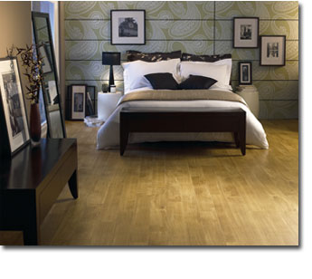 Amtico wooden bedroom floor
