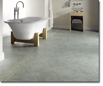 Karndean bathroom grey tile